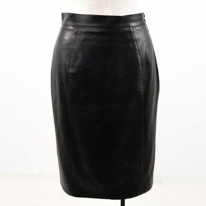 Thierry Mugler 8 Vintage 90s Leather Pencil Skirt